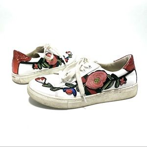 Ace floral embroidered patch sneakers